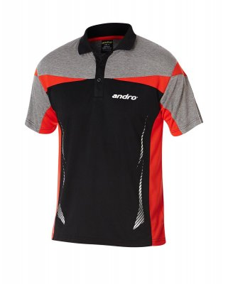andro® Shirt Liam black/red/grey