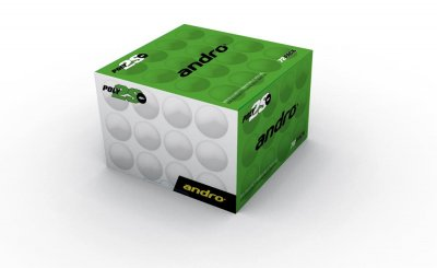 andro® training ball ** Poly2S 40+ cellfree 72-pack