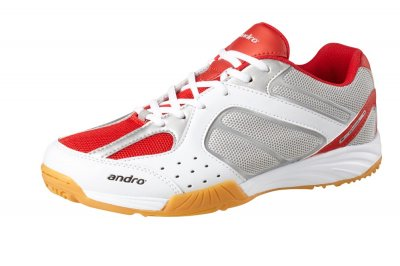 andro shoe alphastep II white/red