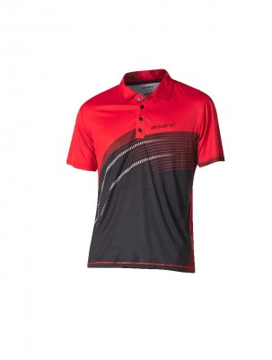 andro® shirt Barry black/red
