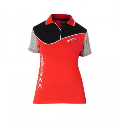 andro® Shirt Brendan Women red/black/grey
