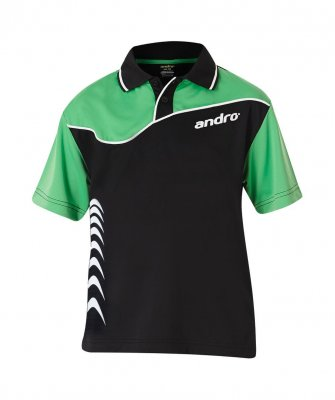 andro® Shirt Brendan black/green/white