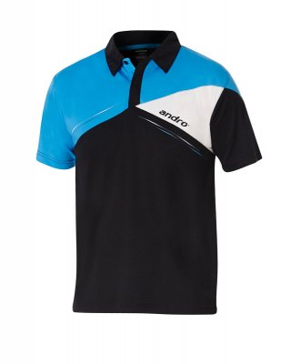 andro® Shirt Conor black/blue/white