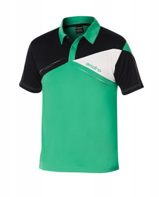 andro® Shirt Conor green/black/white