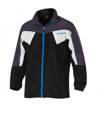 andro® Jacket Preston black/grey/blue/white