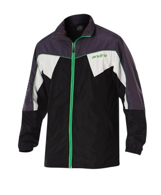 andro® Jacket Preston black/grey/green/white