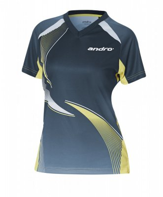 andro-Shirt Kaitos Women - nightblue/yellow