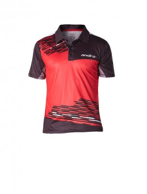 andro® shirt Luke red/black