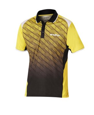 andro® Shirt Milos yellow/black
